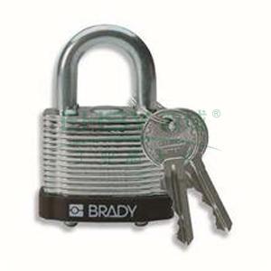 "BRADY钢锁,0.75"",1.9cm,锁钩,锁芯互异,黑色,99520"