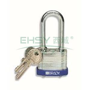 "BRADY钢锁,2"",5cm,锁钩,锁芯互异,蓝色,99528"