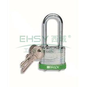 "BRADY钢锁,2"",5cm,锁钩,锁芯互异,绿色,99533"