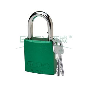 "BRADY铝锁,1"",2.5cm,锁钩,锁芯互异,绿色,99610"