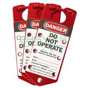 BRADY连牌锁,红色,#1,5个/包,65960