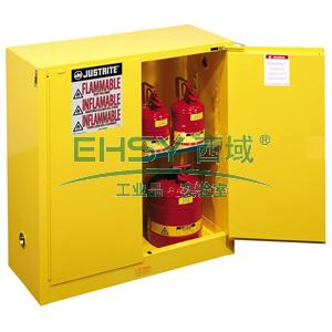 安全柜,30加仑黄色安全柜,双门,自闭