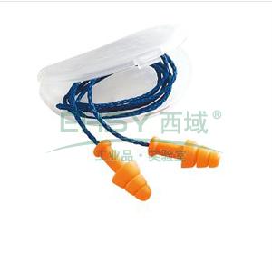 霍尼韦尔 SMF-30 SmartFit 圣诞树型带线耳塞,100副/盒(附盒)