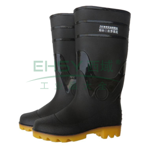 高筒雨靴,防滑耐油,牛黑色,42,PKXZ-001