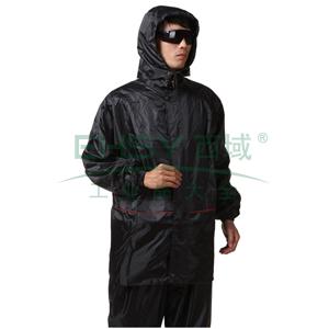 户外骑行雨衣,分体式,深黑色,XXXL