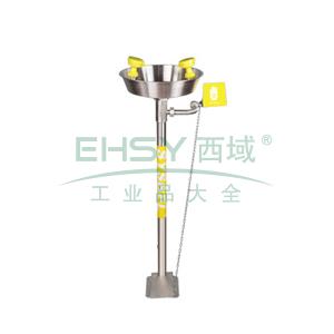 SYSBEL 洗眼器,不锈钢立式洗眼器,304SS水盆,有脚踏装置,WG7033F