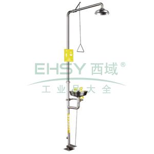 SYSBEL 洗眼器,不锈钢复合式洗眼器,304SS花洒罩,304SS水盆,脚踏装置,WG7053F