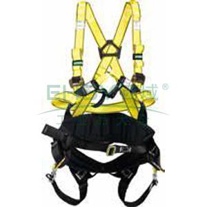 MSA 沃克曼全能型全身式带护腰安全带,小号,10106898