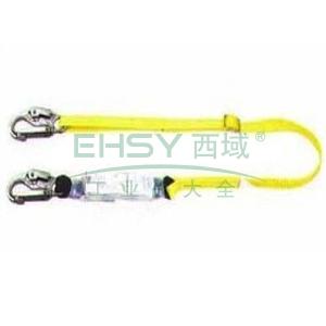MSA 沃克曼吸震绳(单腿),65mm开口挂钩,2米,10106902