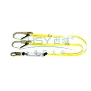 MSA 沃克曼吸震绳(双腿),65mm铝合金开口挂钩,1.2米,10106907