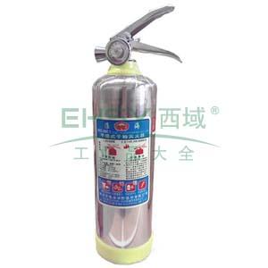 手提式不锈钢筒体ABC干粉灭火器(1kg)-ABC干粉灭火剂,灭火剂重1kg,灭火级别1A21B,15468