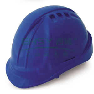 羿科AT60 ABS透气型安全帽,蓝色