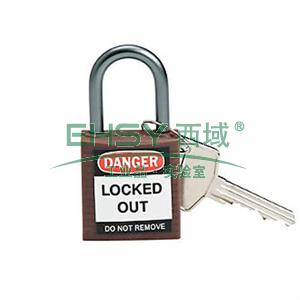 绝缘安全挂锁,铝合金锁钩,棕色