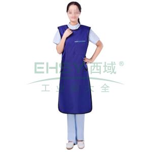 无袖单面式射线防护服,0.50mmPb,宝蓝色,M