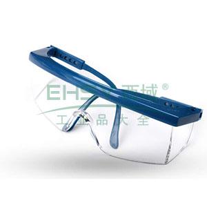 3M 1711 防护眼镜,防刮擦涂层,蓝色镜架