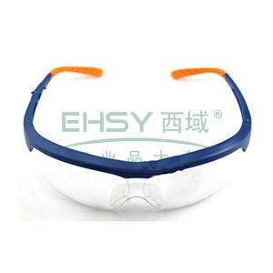 霍尼韦尔透明镜片防雾眼镜,蓝色镜框,110100