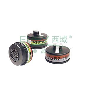 霍尼韦尔BC1788020 K2氨类衍生物、氨单罐全面罩塑料过滤罐,5个/盒