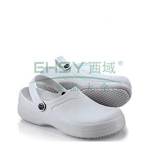 SFC 厨师鞋/凉鞋拖鞋,防滑防油防水,白色,40,355011