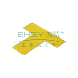 重载型5S管理地贴(T型)-高强度PVC材料,自带背胶,厚2mm,黄色,50×150×150mm,10个/包,15821