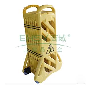 折叠式围栏-高性能PP材质,黄色,高110cm,展开长度360cm,11227