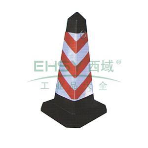 方尖路锥-红白相间,原生橡胶底座,380×380×700mm,11207