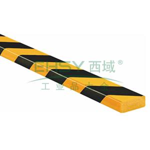 警示防撞条(B款)-耐寒PU材质,黄黑橘皮纹表面,板型,长1000mm,11411