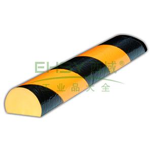 警示防撞条(C款)-耐寒PU材质,黄黑橘皮纹表面,馒头型,长1000mm,11412