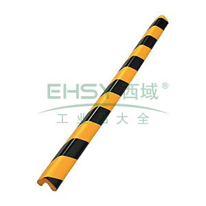 经济型防撞条(直角)-发泡橡胶材质,黄黑条纹,48×48×900mm,14490