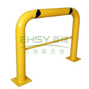 钢制高位隔离栏-钢制,黄色粉末喷涂,含安装配件,壁厚3mm,长1220×高915mm,Φ115mm,11426