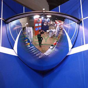 1/4球面镜-进口柔性PC镜面,含安装配件,Φ300mm,14303