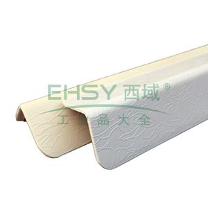 PVC墙面护角-进口PVC材质,玫瑰纹,白色,内附双面胶,36mm×36mm×1.5m,厚2.2mm,10根/包,15505