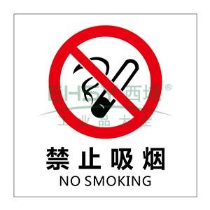 自发光消防警示标签(禁止吸烟)-自发光不干胶,100×100mm,10片/包,20230