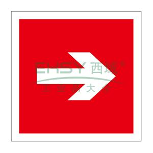消防警示标签(箭头)-不干胶,100×100mm,10片/包,20231
