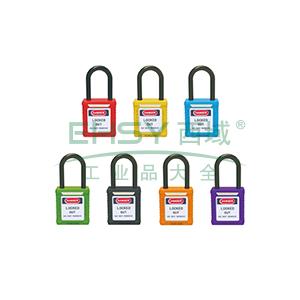 绝缘安全挂锁(绿)-高强度工程塑料锁体及锁梁,绿色,绝缘锁梁Φ6mm,高38mm,14674