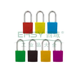 铝合金安全挂锁(黄)-铝合金锁体,钢制锁梁,黄色,锁梁Φ6mm,高38mm,14693