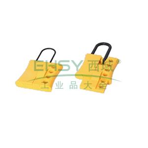 绝缘安全锁钩-工程塑料材质,锁梁Φ6mm,黄色,61×108mm,14728