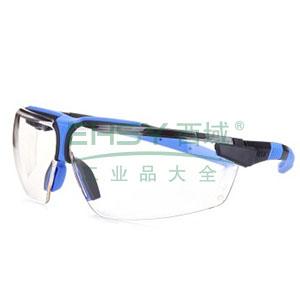 UVEX 9190275 透明镜片,石墨/蓝色镜框防护眼镜