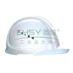 JSP 01-3032 欧文 PE安全帽,白色(滑扣式)