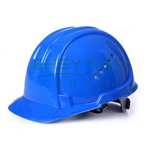 JSP 01-3033 欧文 PE安全帽,蓝色(滑扣式)