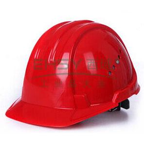 JSP 01-3035 欧文 PE安全帽,红色(滑扣式)