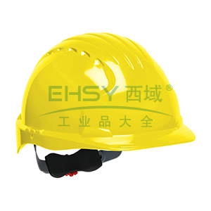 JSP 01-9021 威力9 ABS T类安全帽,黄色(调整轮)