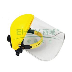 JSP 02-3240 帕洛玛防飞溅面罩含头戴式支架(黄),Acetate(醋碳盐)标准型透明面屏