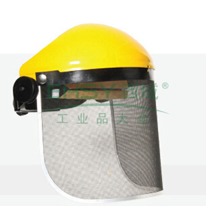 JSP 02-3160 依凡斯金属网防护面罩含头戴式支架(黄)
