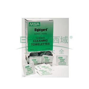 MSA防护眼镜清洁湿巾,10022087,100片/盒