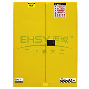 众御,易燃液体安全存储柜-黄色90加仑,双门自动门,ZYC0090K