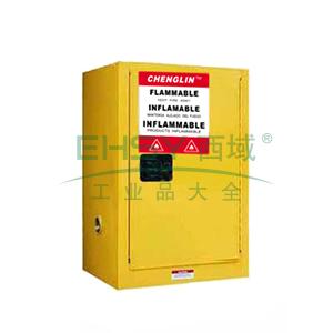 成霖 黄色安全柜单门/手动,1块可调层板4加仑,CL800400