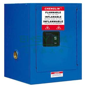 成霖 蓝色安全柜单门/手动,1块可调层板,两块托盘4加仑,CL800402