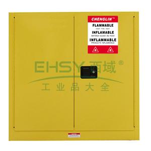 成霖 黄色安全柜双门/手动,1块可调层板30加仑,CL803000