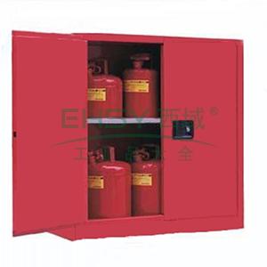 成霖 红色安全柜双门/手动,1块可调层板30加仑,CL803001