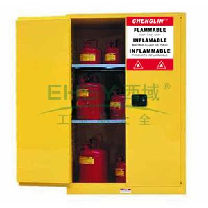 成霖 黄色安全柜双门/手动,2块可调层板45加仑,CL804500